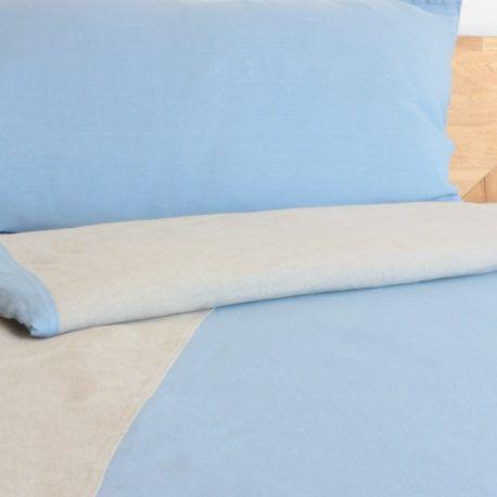 Skandinavische muster blau  Wendebettwäsche 135x200 cm