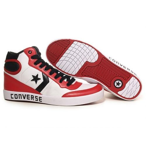 low priced 1eaae 97a78 Converse Basketball Shoes hi-top White-Black-Red