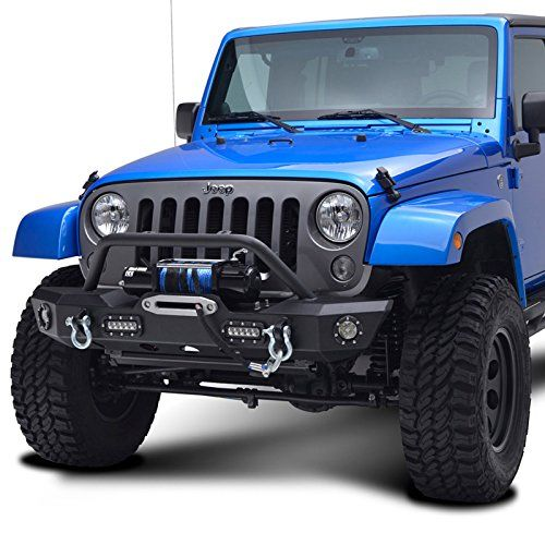 Jeep Wrangler JK Offroad Front Bumper With LED Lights Dual