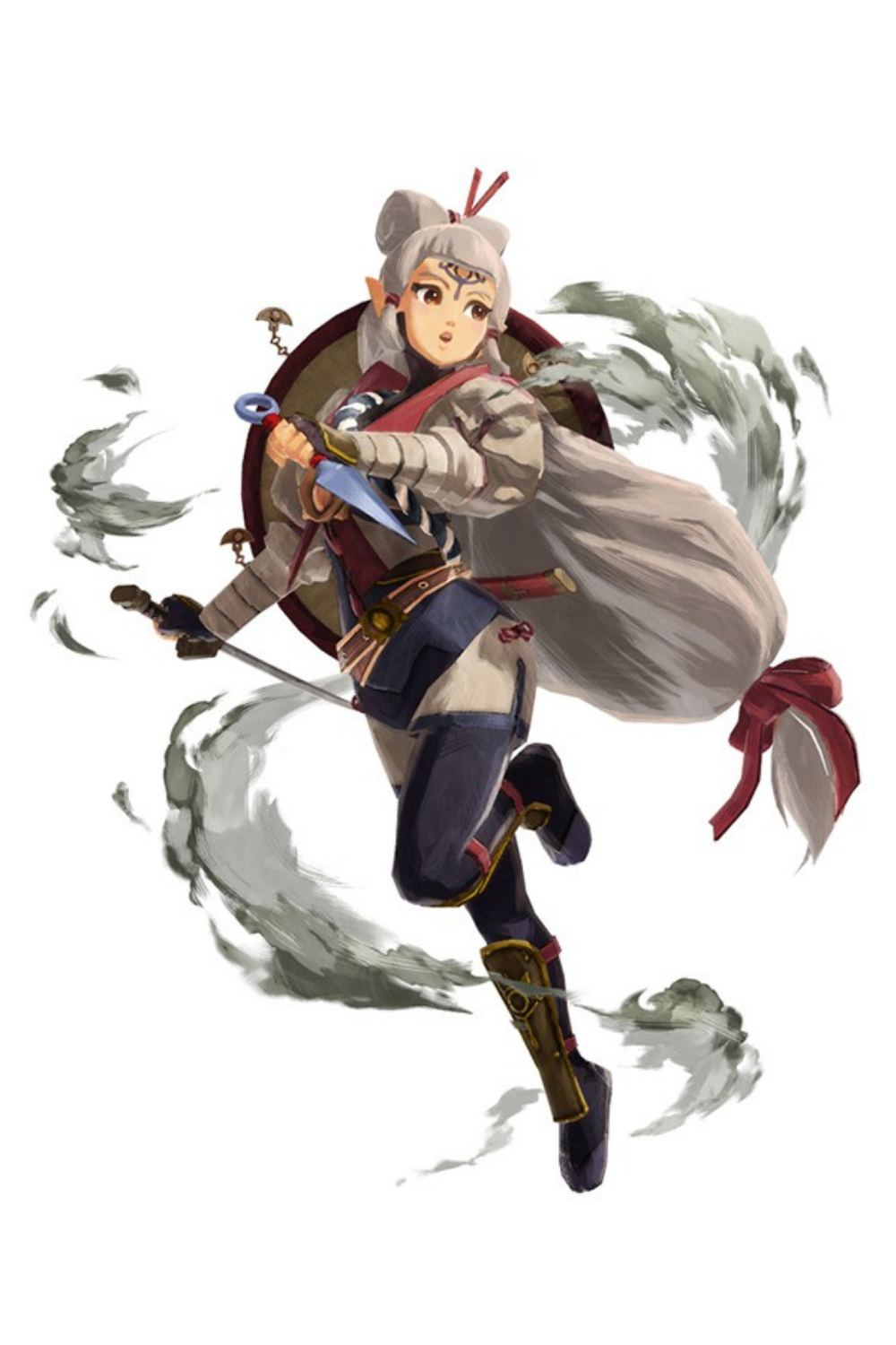 Impa Hyrule Warriors Age Of Calamity Hyrule Warriors Art Reference Illustration