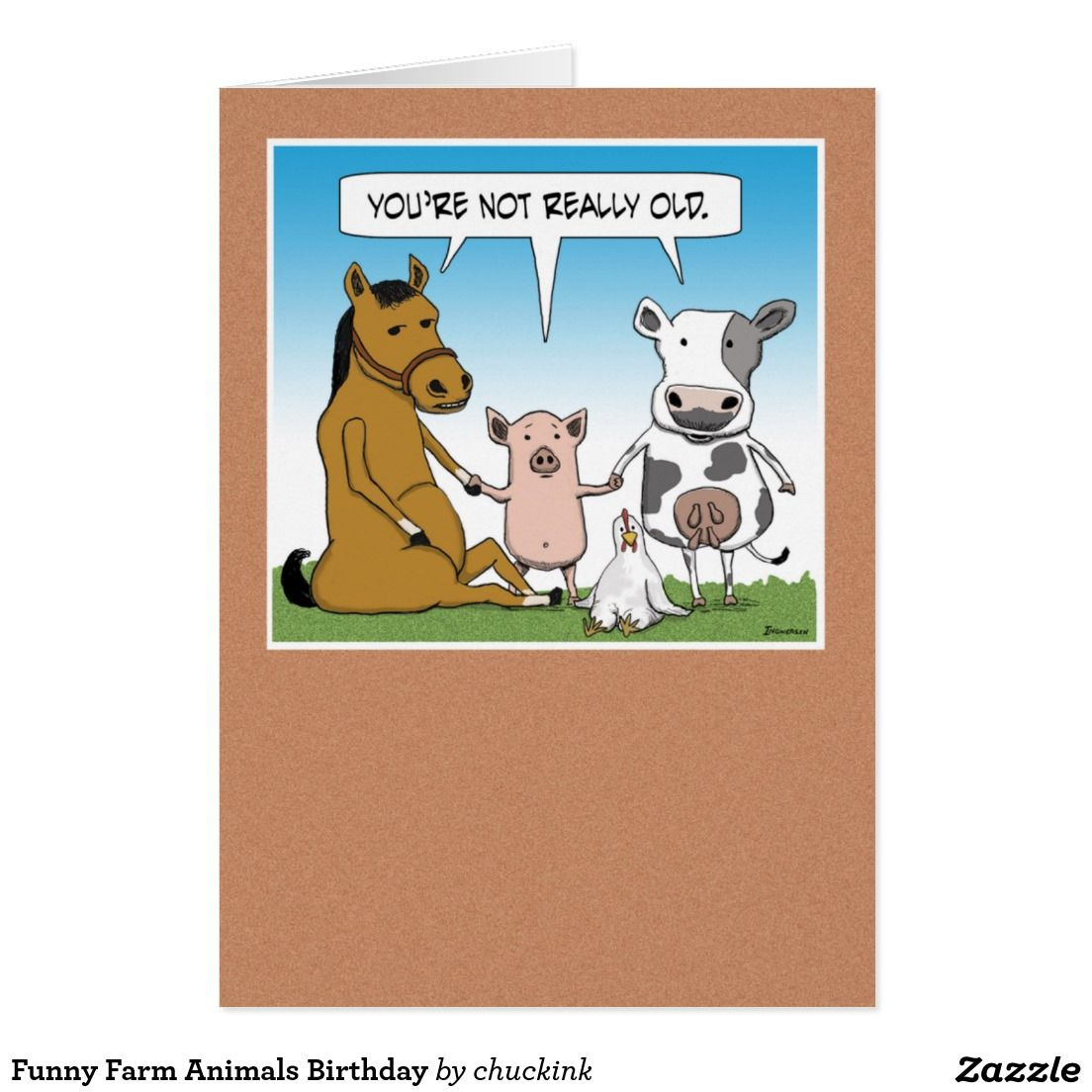 Funny Farm Animals Birthday Card Zazzle Com In 2021 Farm Animal Birthday Animal Birthday Funny Birthday Pictures
