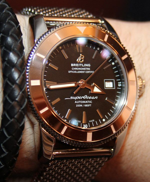 e5d535f8ddb Men watches  Breitling Superocean Heritage Red Gold Watches Hands On  breitling