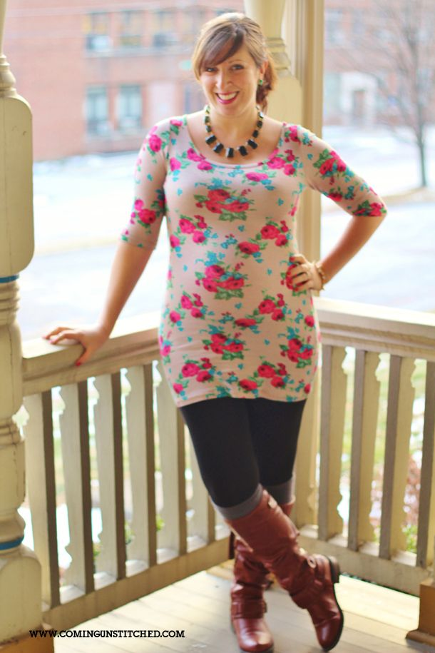 Coming Unstitched: snow flowers | maternity style | maternity fashion