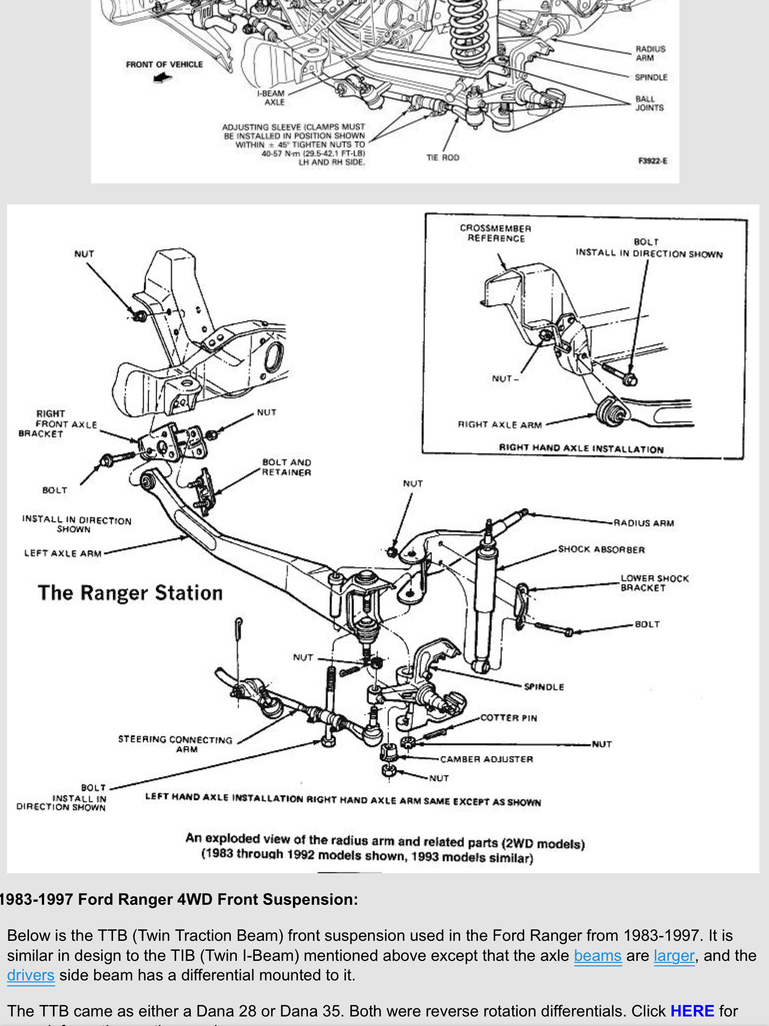 31 Ford Ranger Front Suspension Diagram