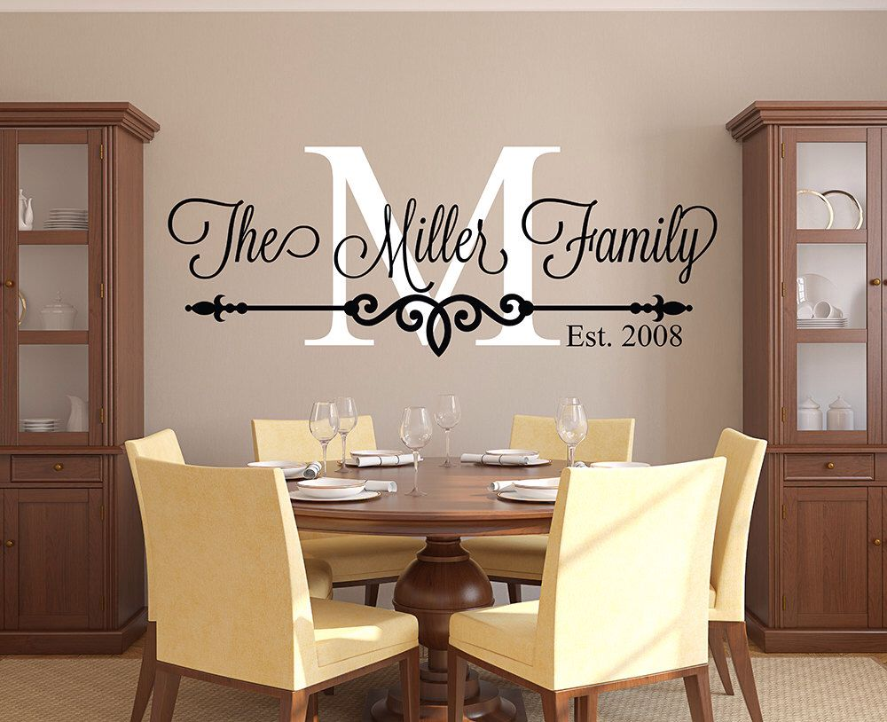Family Name Wall Decal Personalized Family Monogram Living - Custom made vinyl wall decals