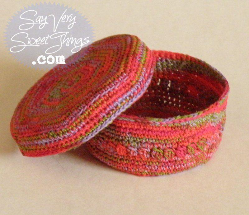 trinket basket | Crochet | Pinterest | Crochet, Crochet ...
