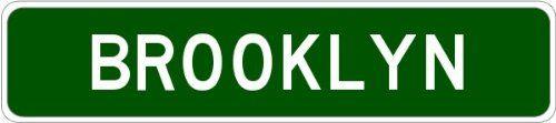 BROOKLYN, SOUTH DAKOTA Aluminum City Street Sign - 9 x 36 Inches The Lizton Sign Shop http://www.amazon.com/dp/B00POWL4XQ/ref=cm_sw_r_pi_dp_TWOCub0E0KCKC
