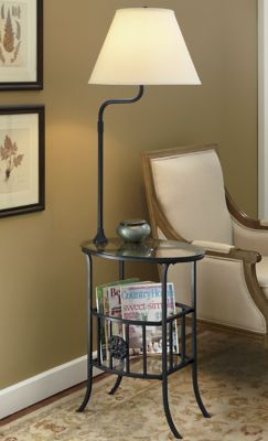 Table Lamp Magazine Rack Combo Possible Future Tiny Home Decor In