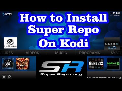 How to Install Super Repo (Add-ons Repository ) on Kodi *** free