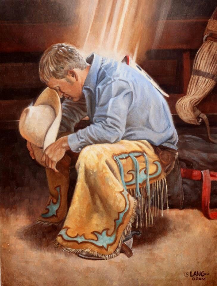The world needs more cowboys.  They know how to pray