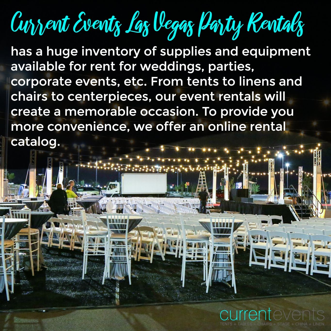 Current Events Las Vegas Party Rentals Has A Huge Inventory Of Supplies And Equipment Available For Rent For Weddin Las Vegas Party Event Rental Current Events