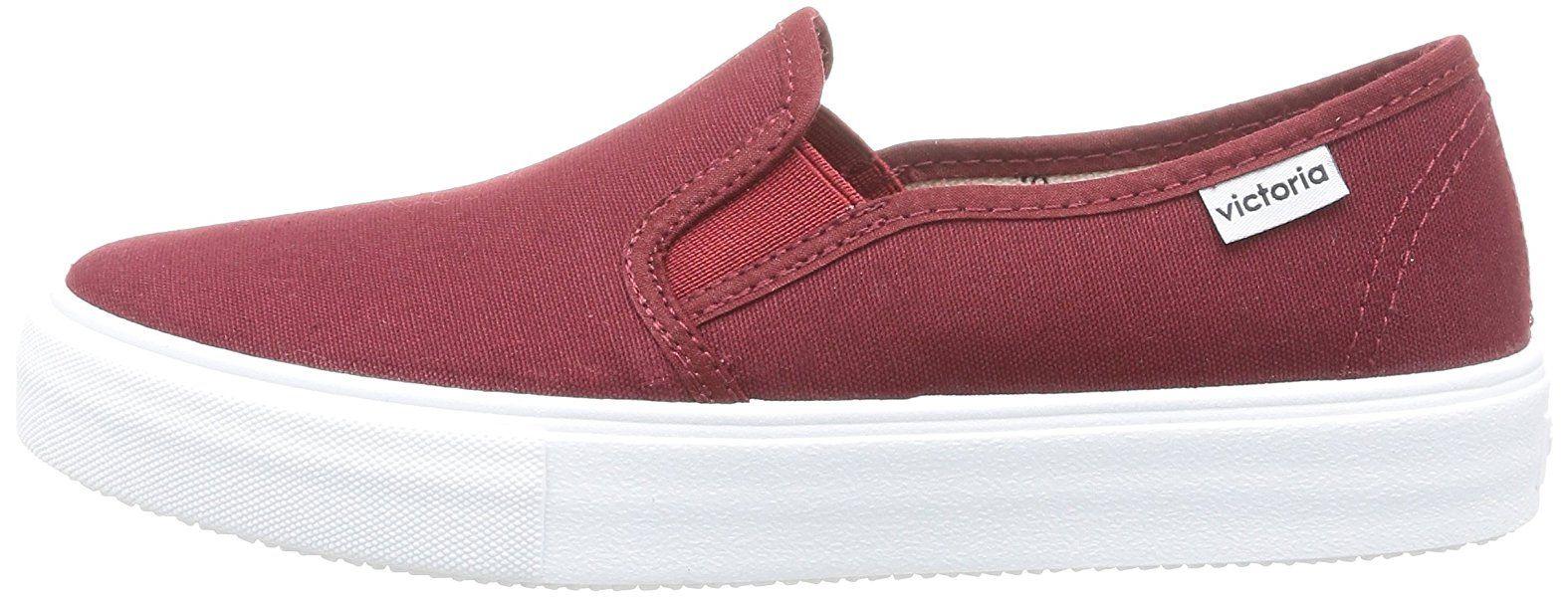 Glissement De La Victoire Sur Toile - Chaussures, Unisexe, Couleur Rouge (bordeaux), Taille 45