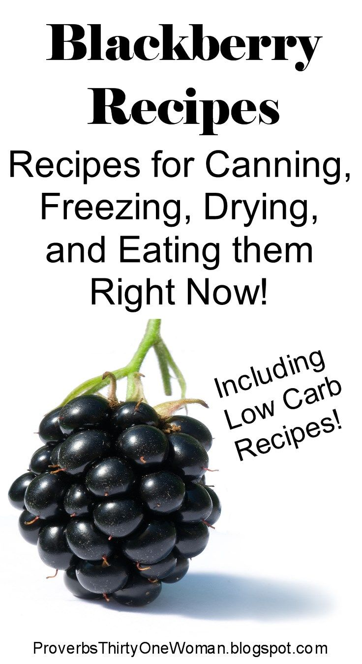 Blackberry recipes recipes for canning freezing drying