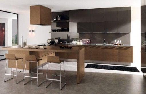una-moderna-cocina-con-madera1jpg (510×328) kitchen Pinterest