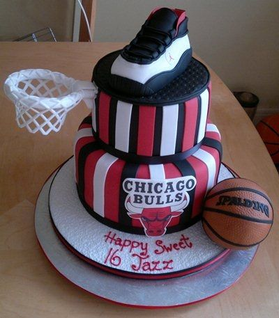jordan basketball party decor Michael Jordan Birthday cake