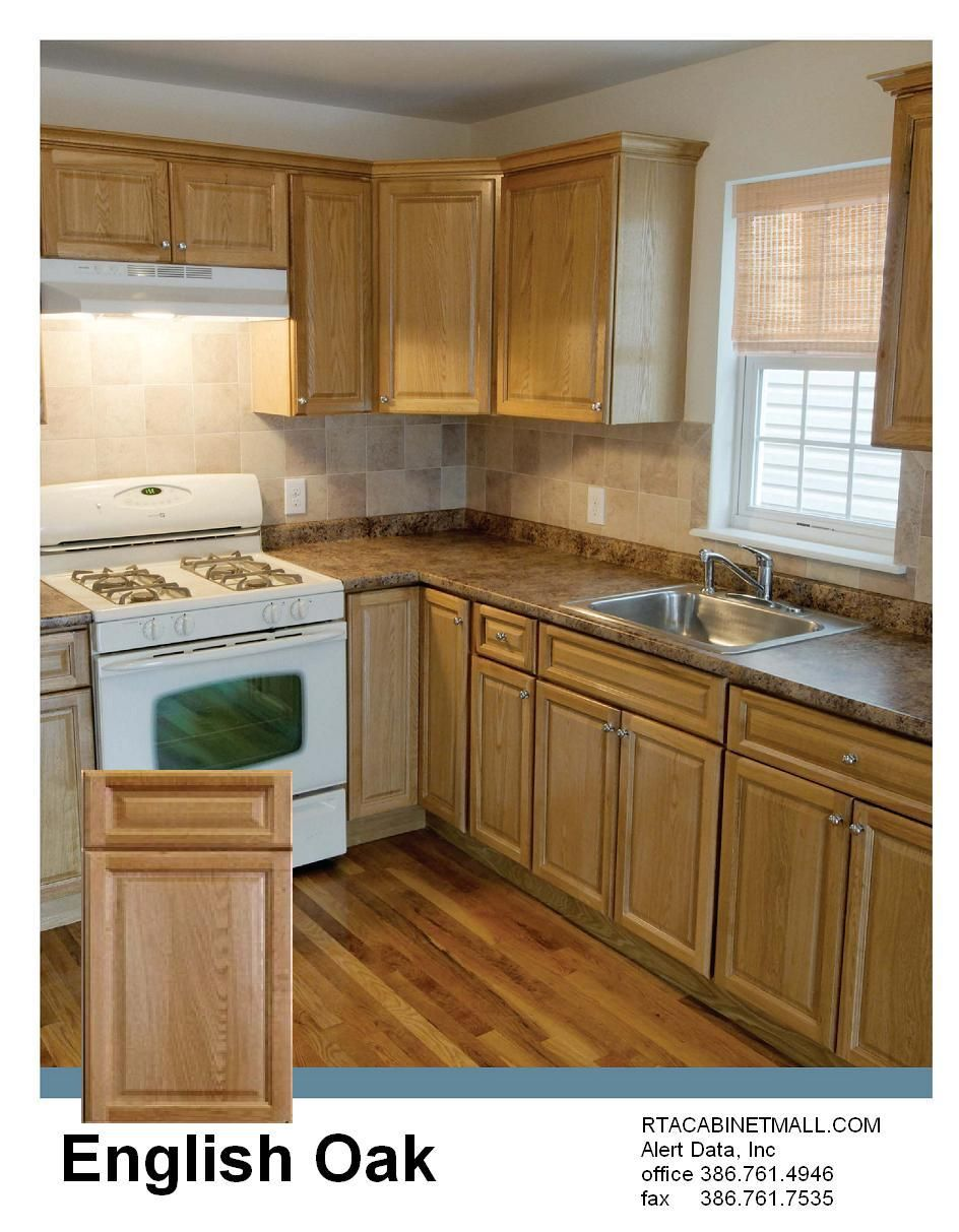 Good Old Fashioned #Oak #Cabinets   English Oak Raised Panel RTA Cabinets    One Of The Most Affordable DIY Kitchens 10x10 $900