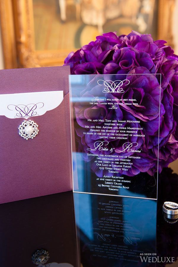 Rita + Rami | This Toronto wedding is purple perfection ...