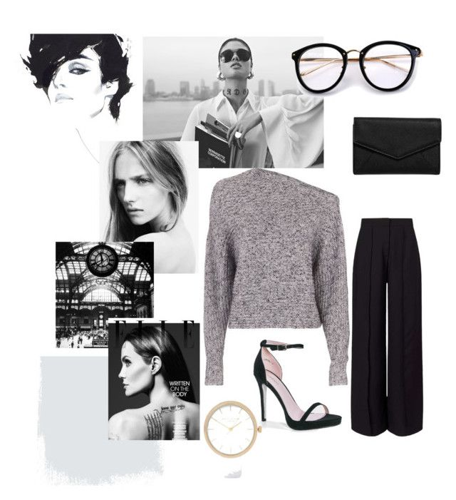 """""""B&W"""" by castaneya-streeby on Polyvore featuring T By Alexander Wang, Miss Selfridge, Boohoo, LULUS and River Island"""