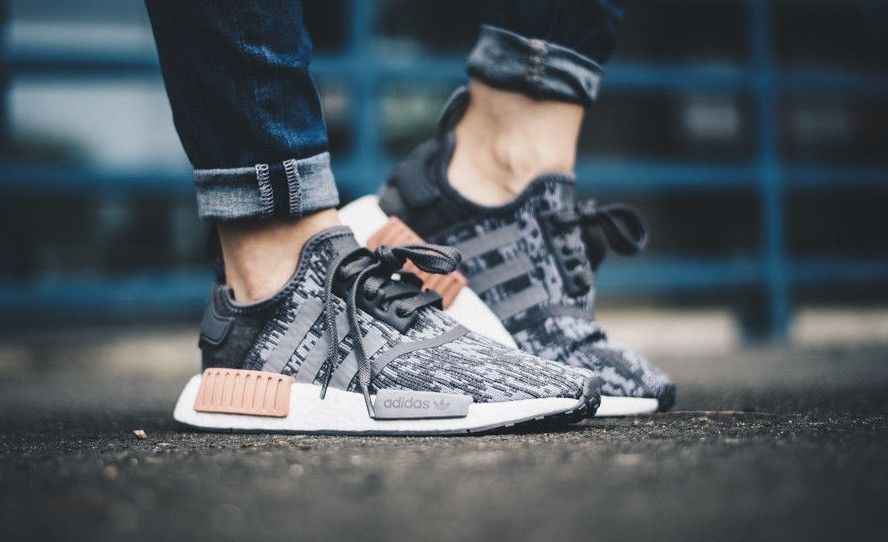 ADIDAS NMD_R1 W GREY & RAW PINK LIMITED EDITION SNEAKERS ALL