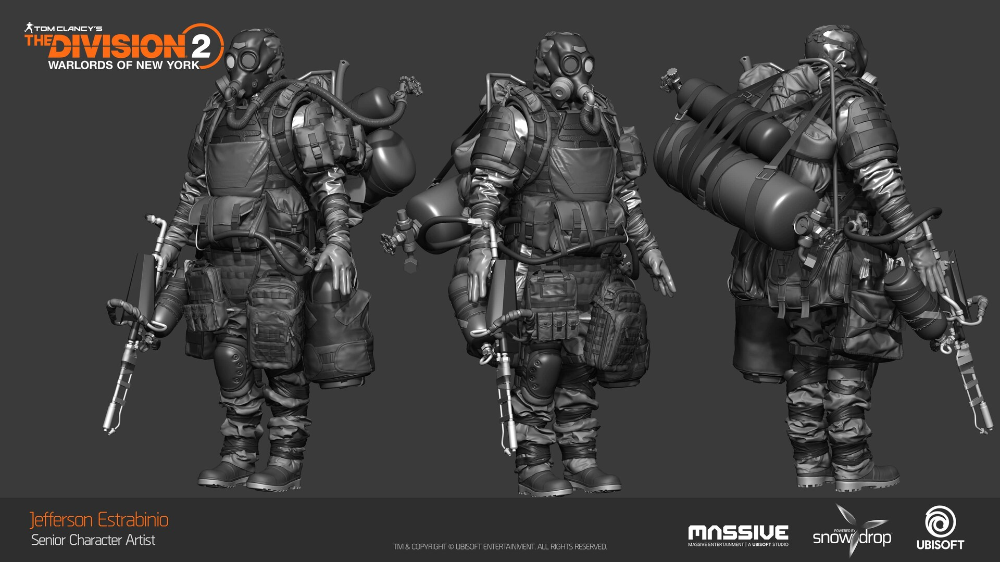 Artstation Tom Clancy S The Division 2 Warlords Of New York Characters Jefferson Estrabinio Tom Clancy The Division Tom Clancy Clancy