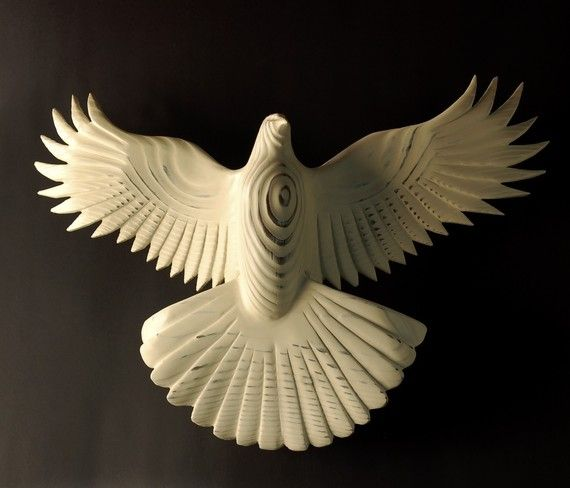 Preferred Peace Dove wood sculpture by Jason Tennant, inspirational  QY87