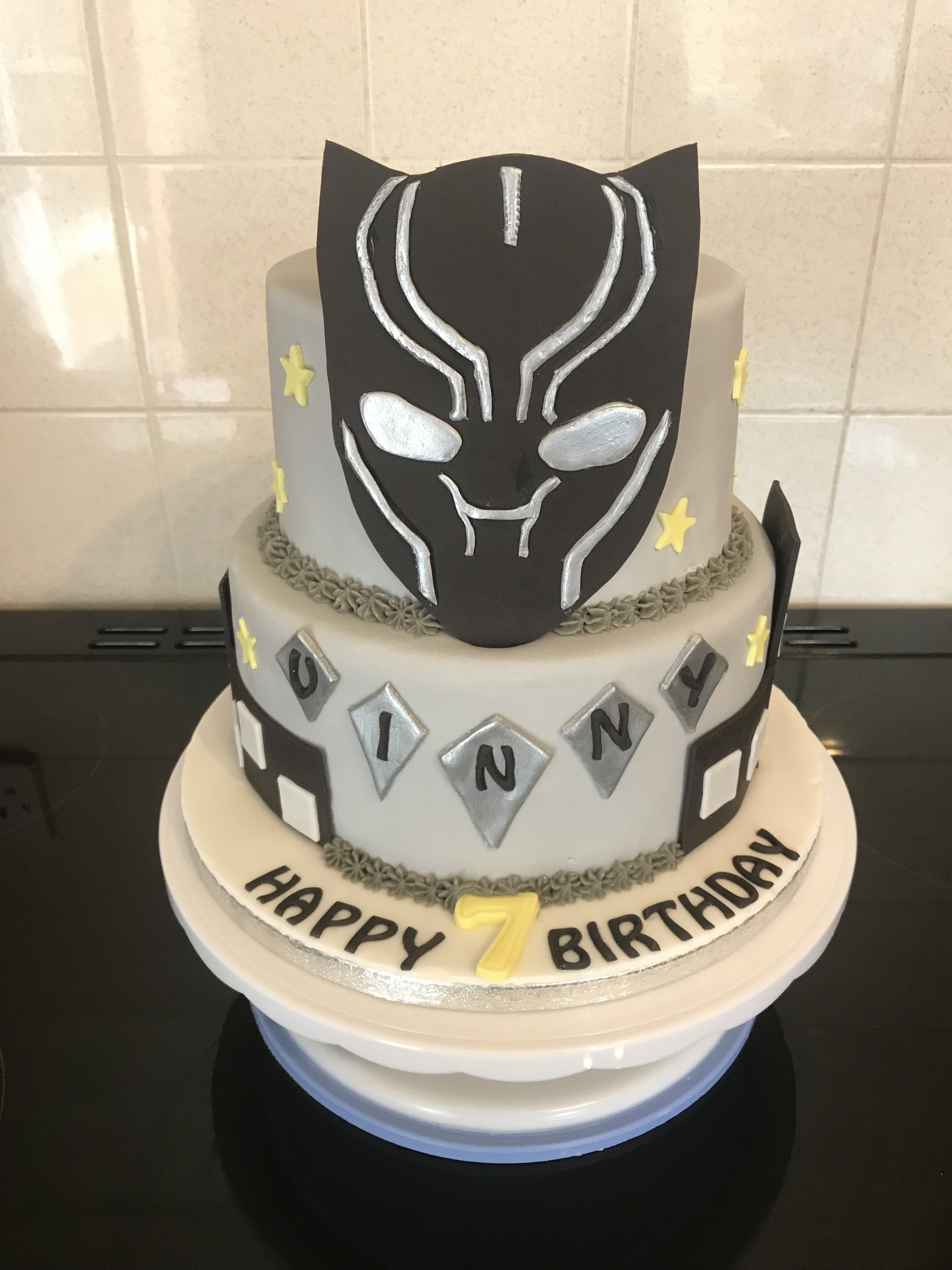 Black Panther Cake Kaisons 6th Birthday In 2019 Cake