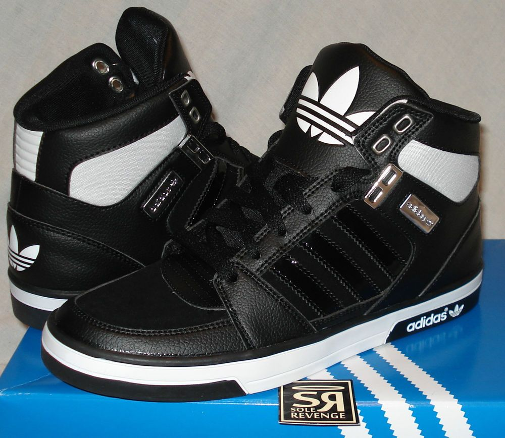 image for adidas shoes for high tops black and white