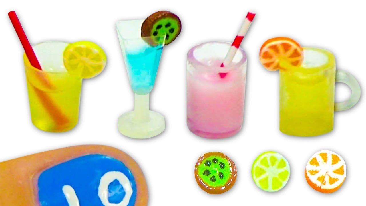 Miniatura de vaso, copa, jarra y rodajas de frutas - Tutorial