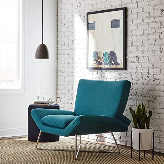 Rivet Farr Lotus Accent Chair Type: Amazon.com: Rivet Farr Lotus Mid-Century Modern Accent