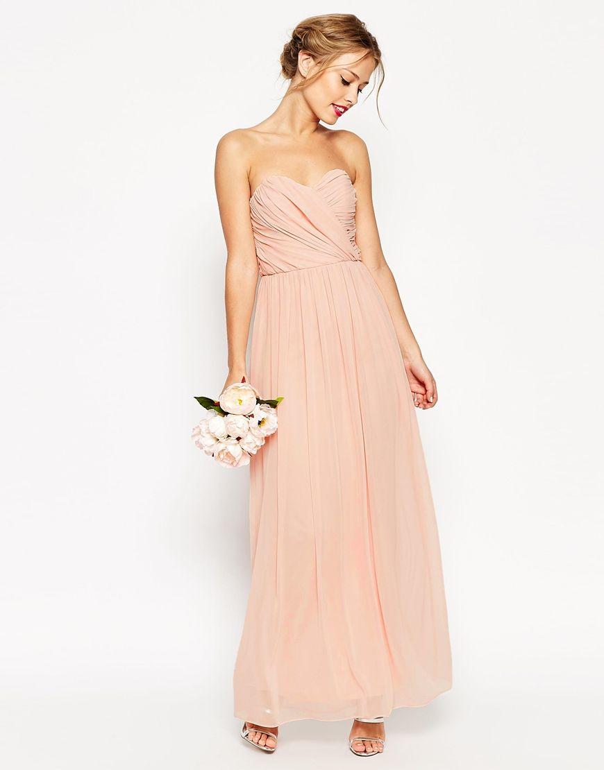Maxi dress for wedding  WEDDING Bandeau Maxi Dress  Bridesmaid Dresses  Pinterest