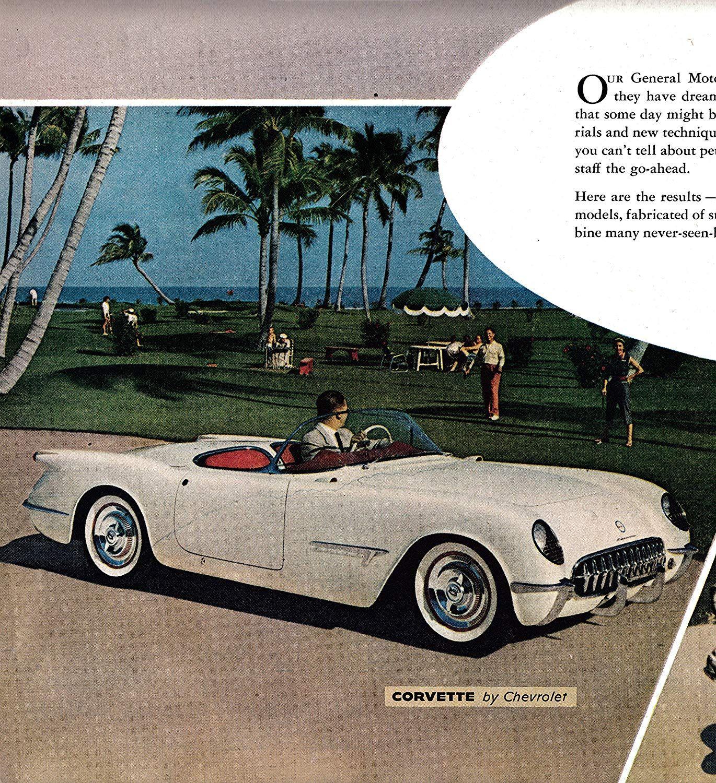 Amazoncom 1953 Chevrolet Corvette Gm Dream Cars Original 2 Page