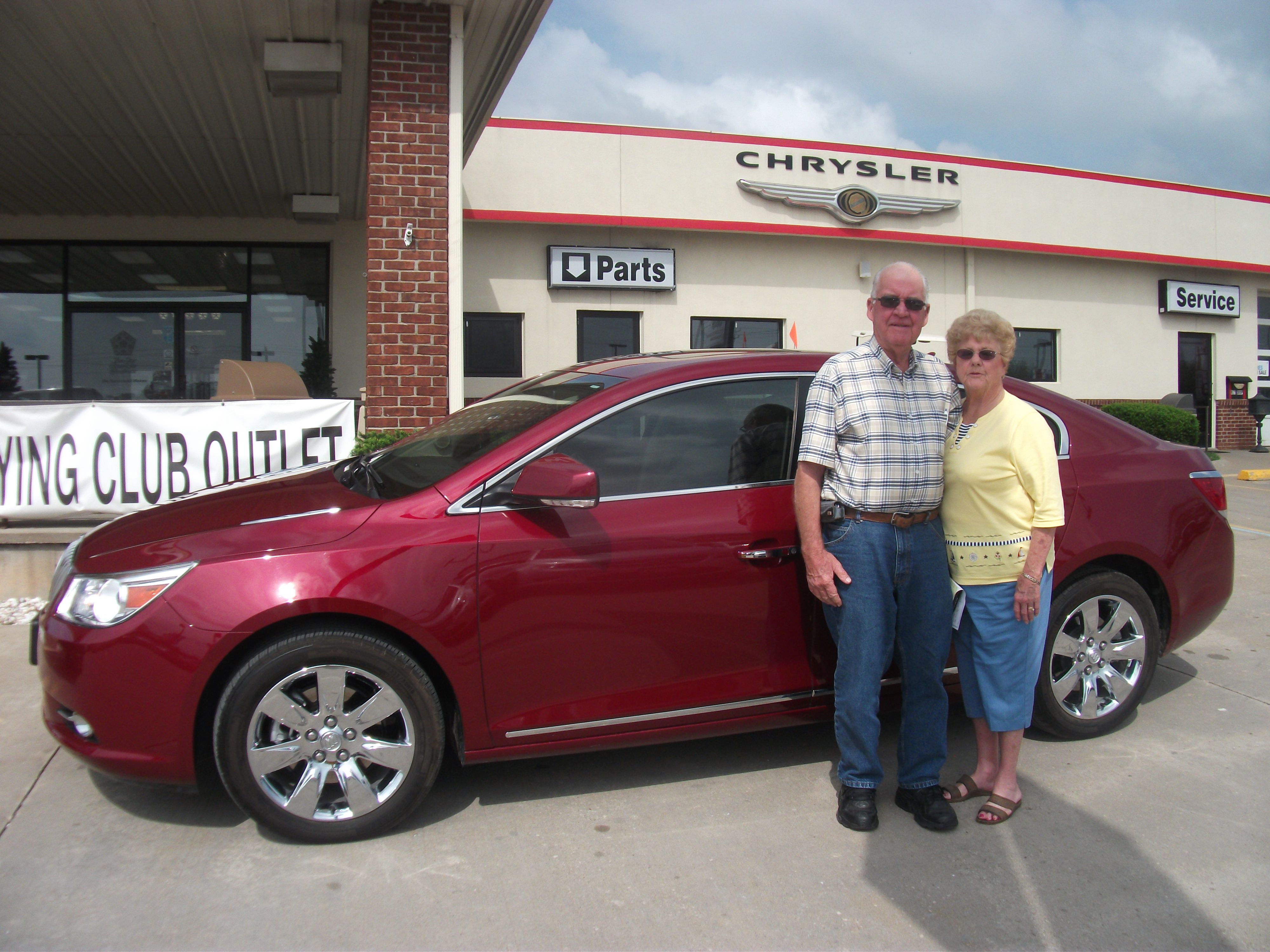"Warren and Peggy Kirby from Trenton, Missouri purchased this 2011 Buick LaCresse and wrote, ""Polly done a great job."" To view similar vehicles and more, go to http://www.wowwoodys.com/Inventory/view/Make/Buick/ today!"