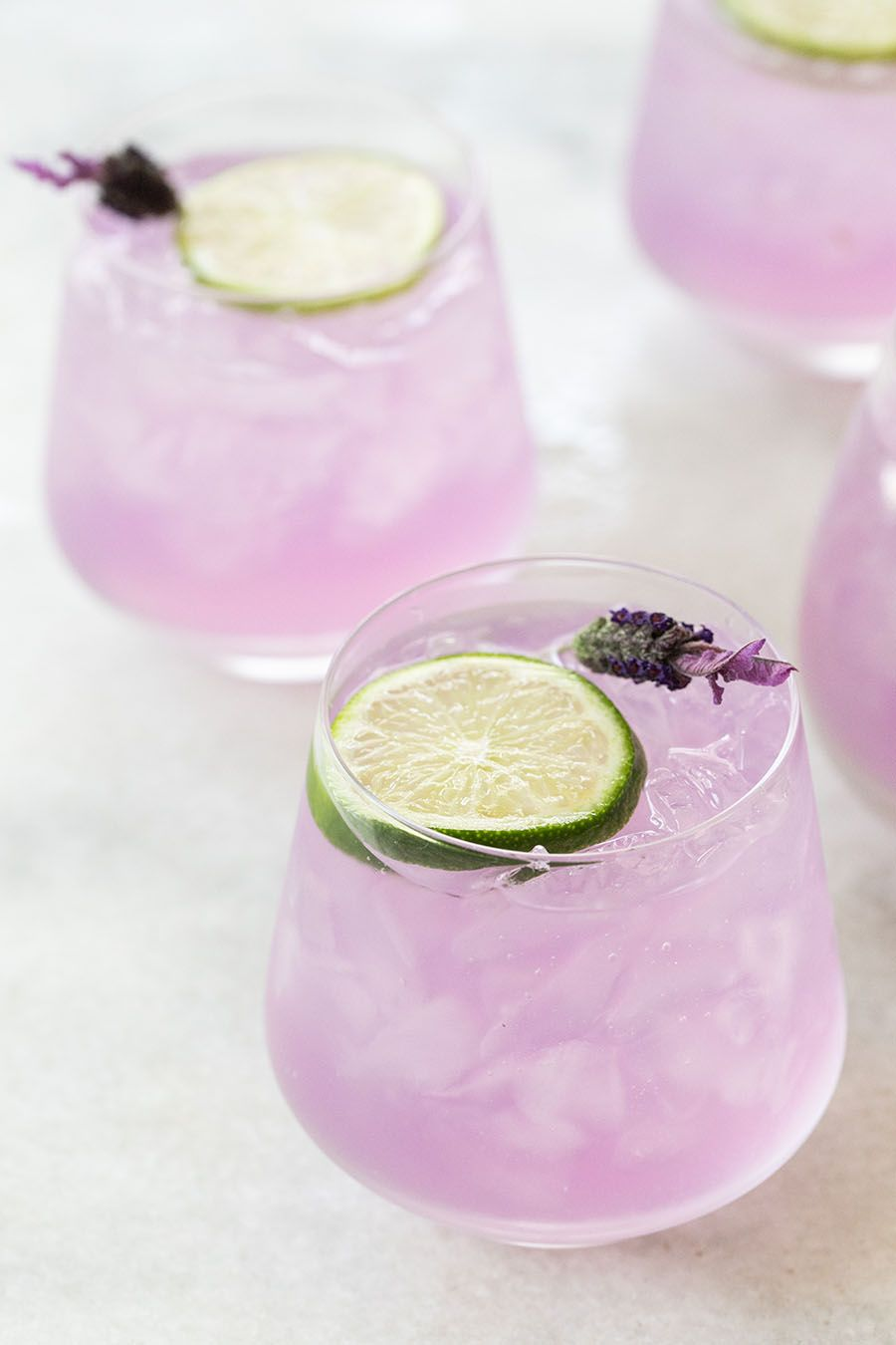 Lavender Gin and Tonic Punch - Sugar and Charm