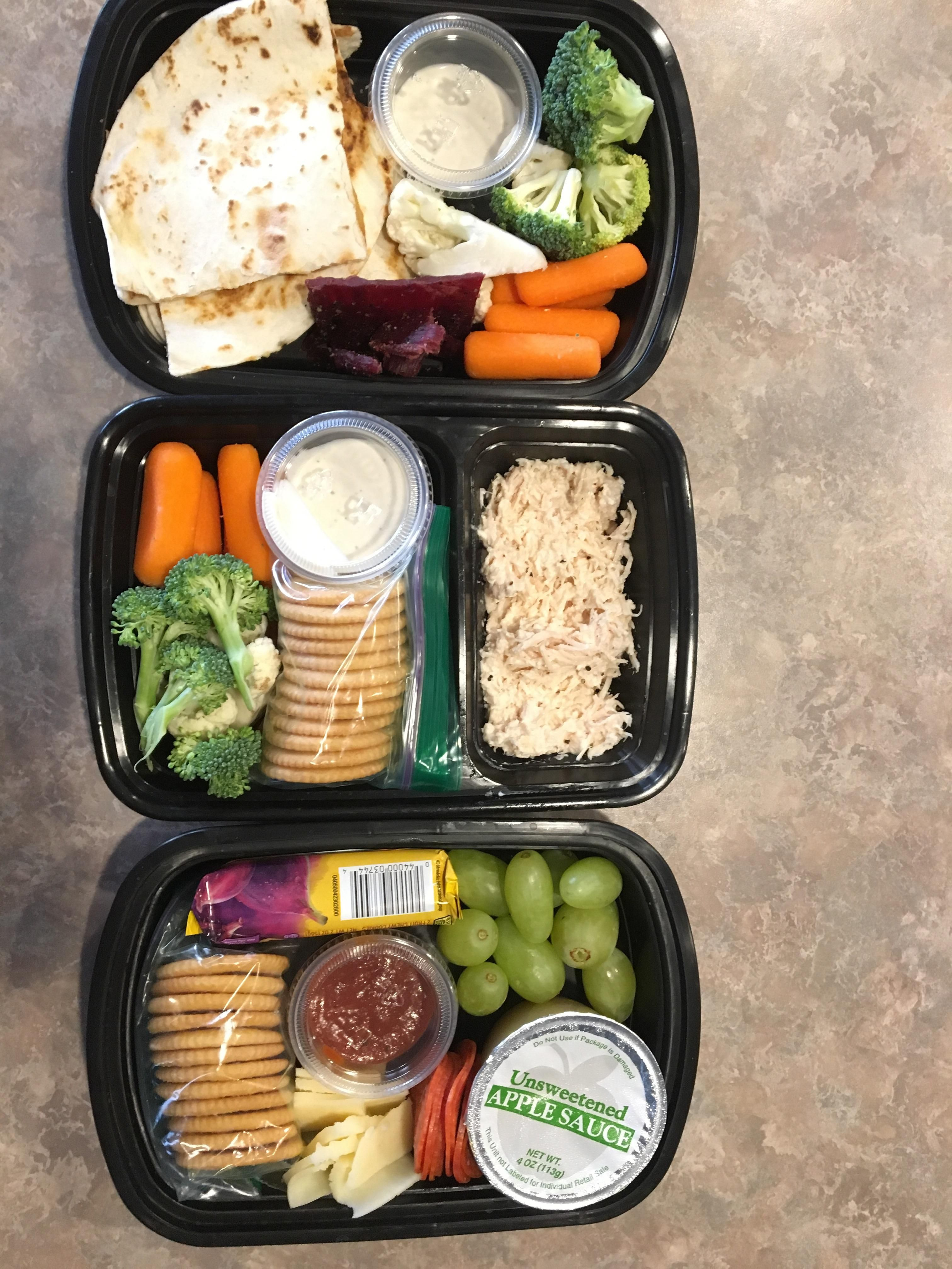 Another Lunchable Style Meal Prep Bean And Cheese Quesadillas Chicken Salad And Pizza Cracker Stackers M Health Dinner Recipes Healthy Lunch Lunch Meal Prep