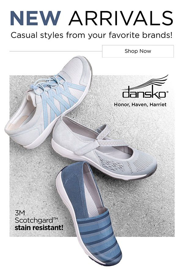 Shop the latest and greatest casual comfort styles from Dansko!