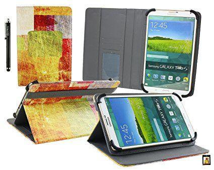 Emartbuy® Asus ZenPad 8 Z380KNL 8 Pollice Tablet Colorato Piastrelle Angolo Multi Esecutivo Portafoglio Custodia Case con Scomparti per Carte di Credito + Stilo