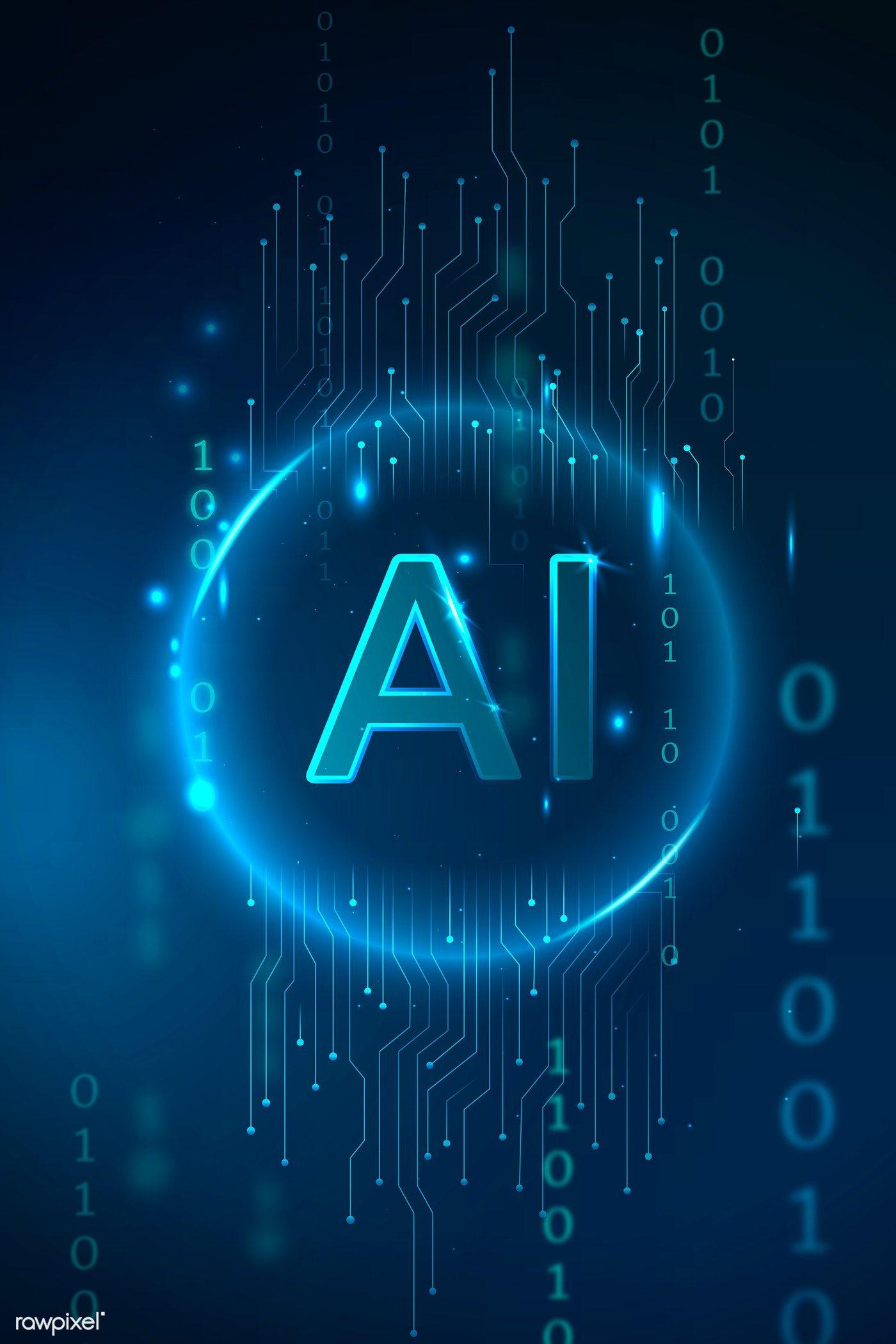 Download premium vector of Futuristic AI global technology