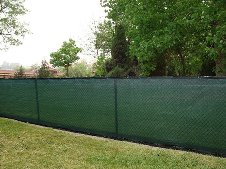 6 39 x50 39 green knitted polyethylene privacy fence screen for Cloth privacy screen
