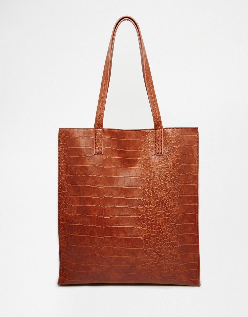 Image 1 of ASOS Croc Shopper Bag   Bags, backpacks and other ... 7184099334