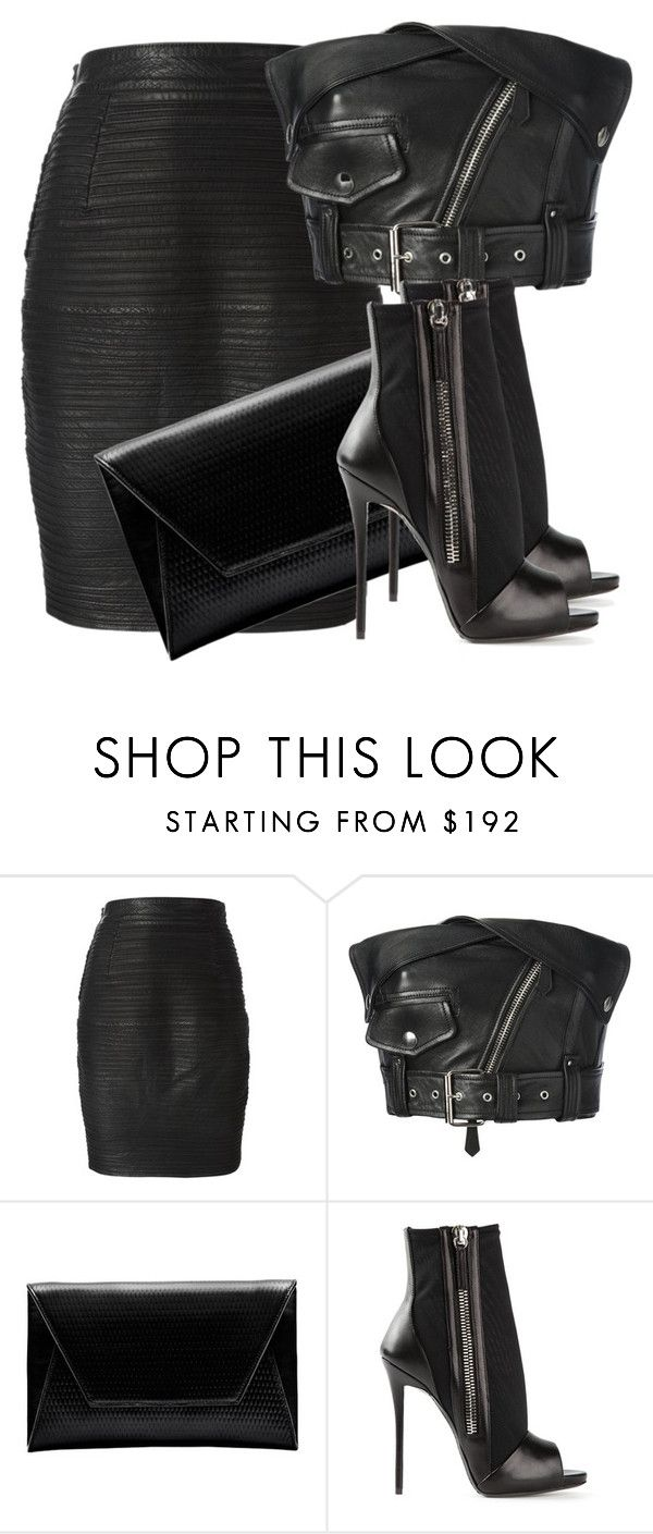 """""""Untitled #1097"""" by elinaxblack ❤ liked on Polyvore featuring Versace, Jean-Paul Gaultier, Flynn and Giuseppe Zanotti"""