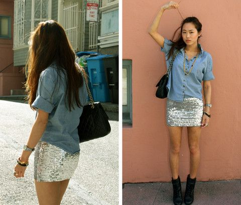 sparkle + denim