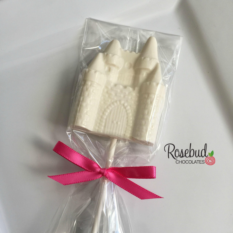 White Chocolate Princess Castle Lollipop Favors...Quinceanera ...