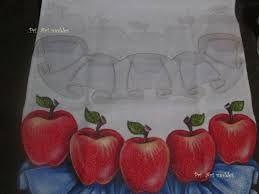 pintura de babado em pano de copa de pascoa - Pesquisa Google
