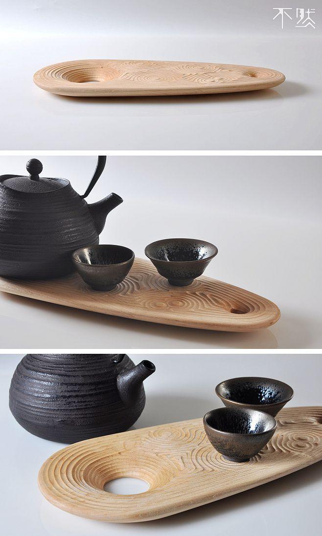 枯山水茶盘(硬枫木)