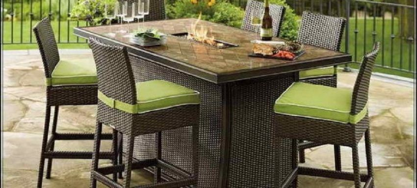 Opt For A Rattan Garden Furniture Set Fire Pit Table Set Garden