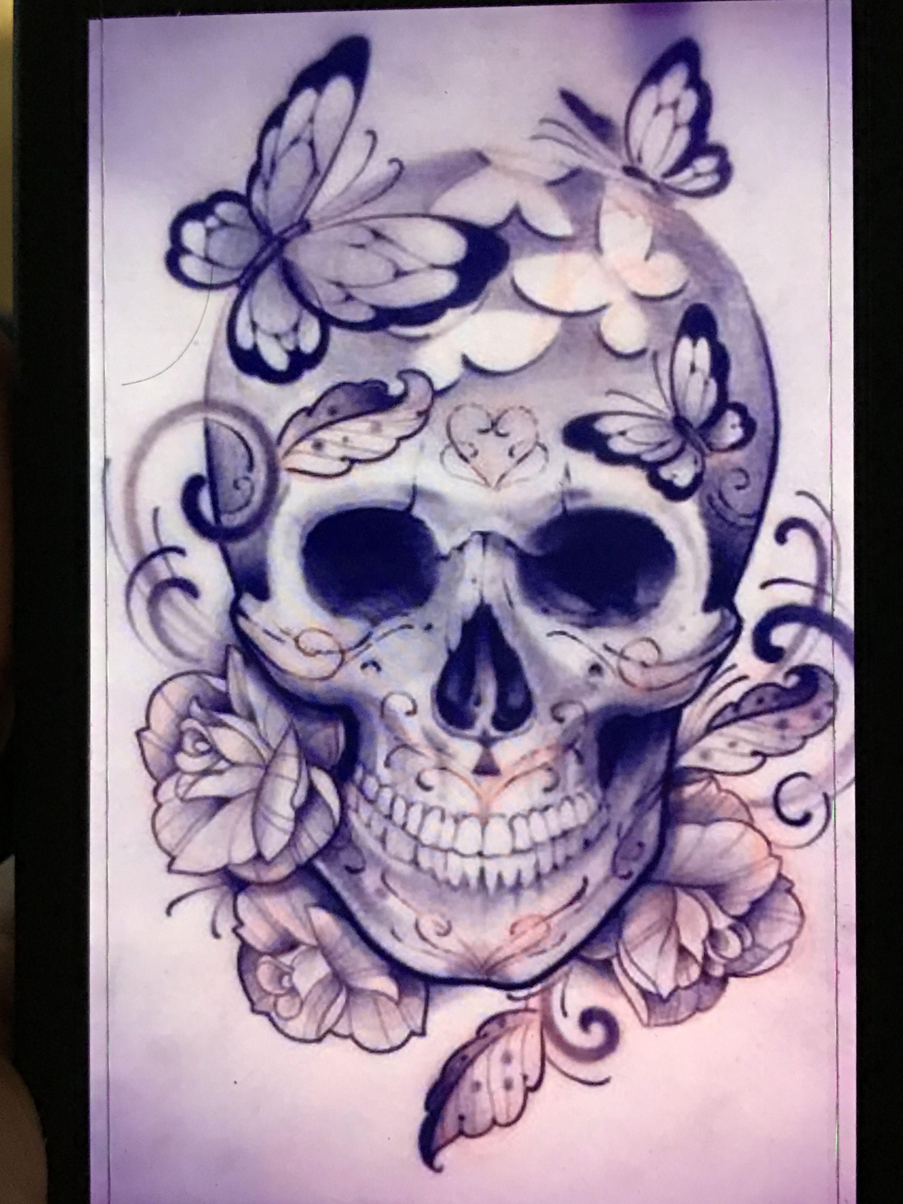 Pin by Amylyn CarterBesse on Tattoos Feminine skull
