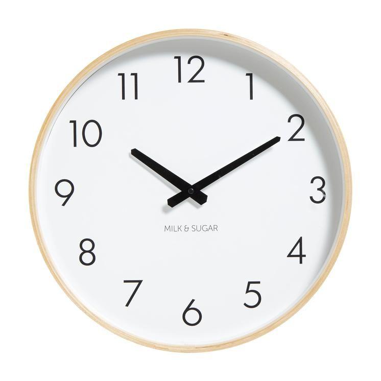 Weston Clock - White #worthynzhomeware wwworthy.co.nz