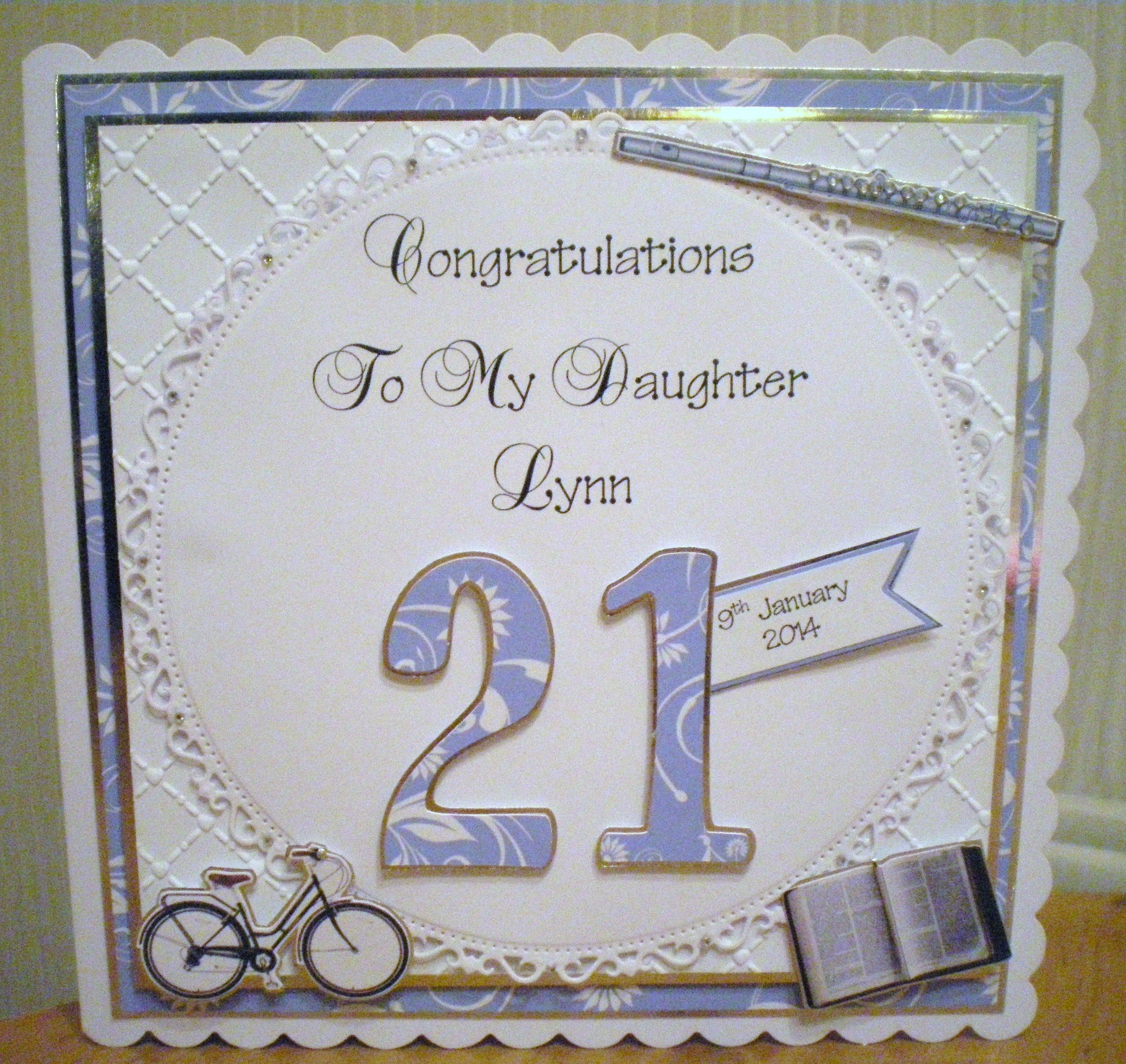 Special Order personalised 21st Birthday card