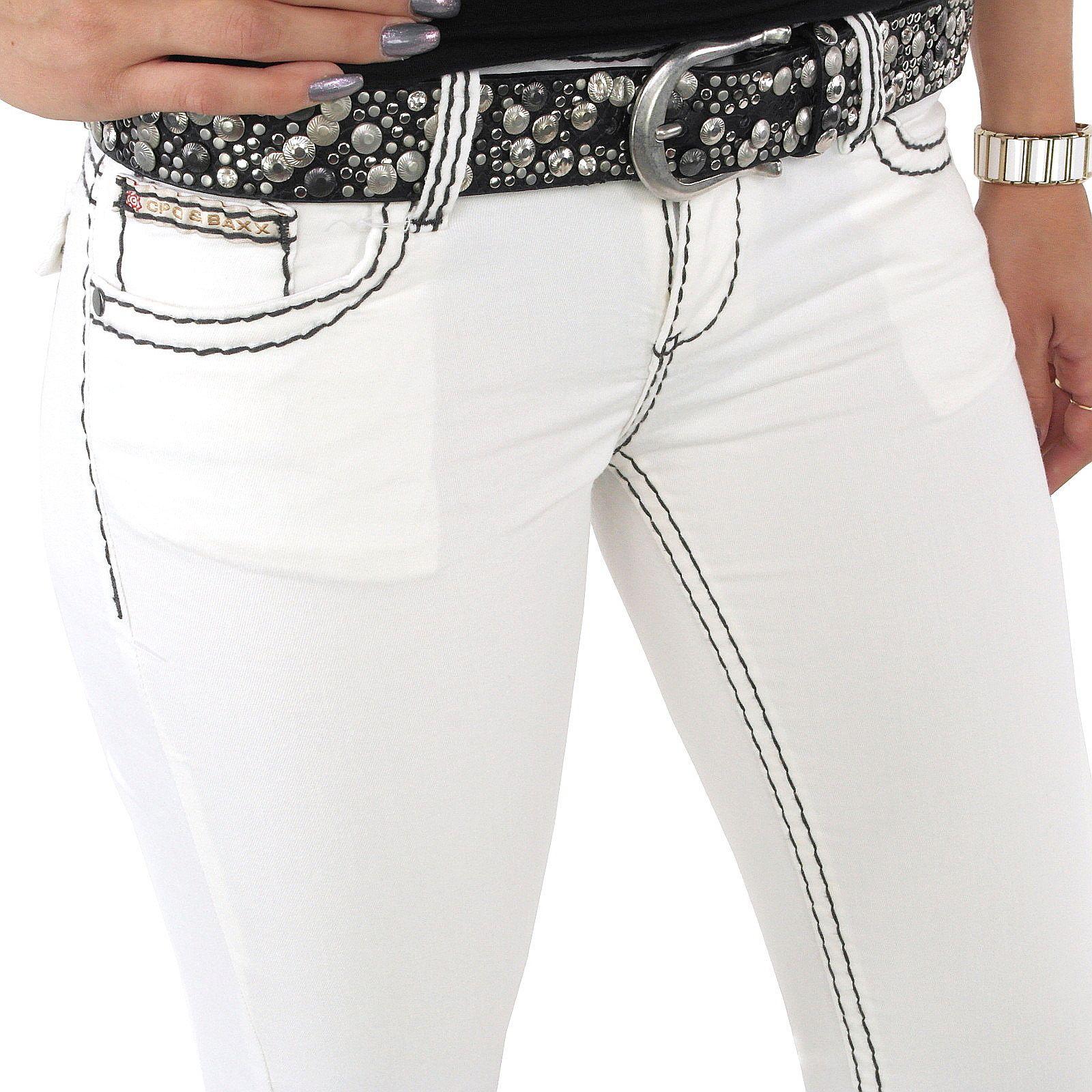 Tolle Damen Jeans der Marke Cipo und Baxx in weiß mit