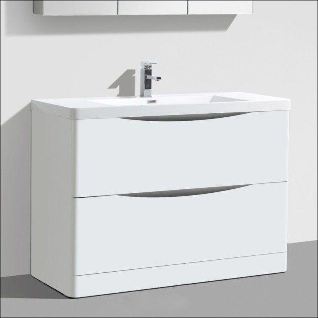 White Gloss Bathroom Vanity Unit
